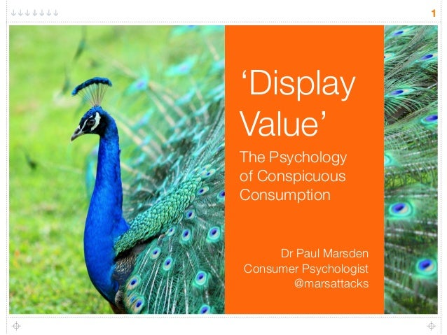 'Display Value' The Psychology 