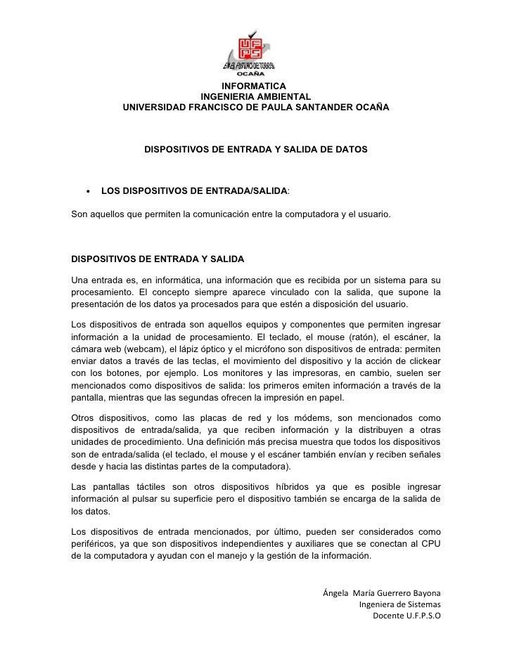 INFORMATICA                          INGENIERIA AMBIENTAL            UNIVERSIDAD FRANCISCO DE PAULA SANTANDER OCAÑA       ...