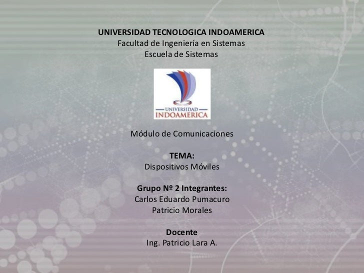 UNIVERSIDAD TECNOLOGICA INDOAMERICA    Facultad de Ingeniería en Sistemas           Escuela de Sistemas       Módulo de Co...