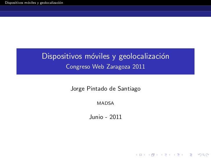Dispositivos móviles y geolocalización