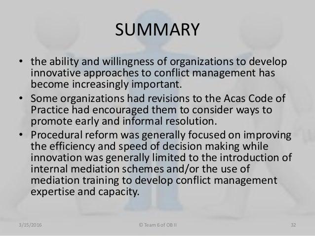 Conflict management essay
