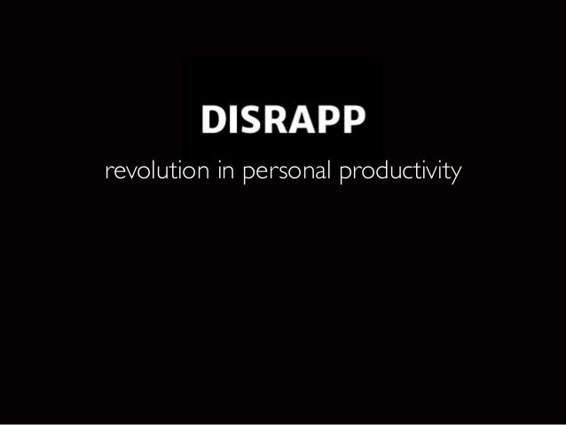 revolution in personal productivity