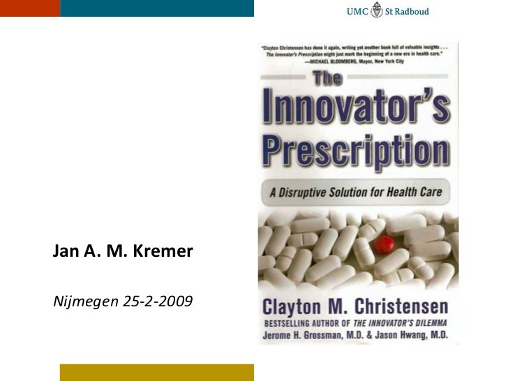 "Jan Kremer's presentation on ""Innovative Prescription"""