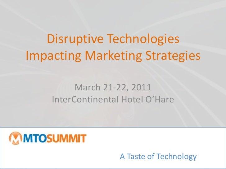 Disruptive Tech Impacting Event Marketing