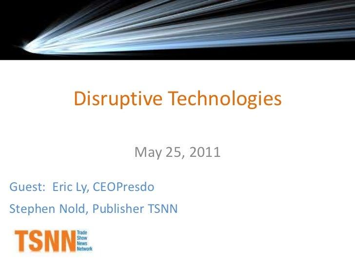 Disruptive techwashingtondc4.25.11