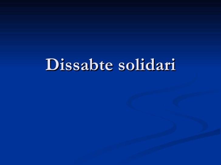 Dissabte solidari