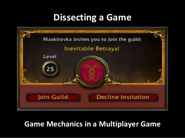 Dissecting a Game  Game Mechanics in a Multiplayer Game