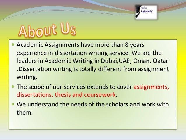 Dissertation writing help service