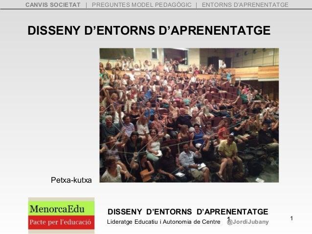 CANVIS SOCIETAT | PREGUNTES MODEL PEDAGÒGIC | ENTORNS D'APRENENTATGE  DISSENY D'ENTORNS D'APRENENTATGE  DISSENY D'ENTORNS ...