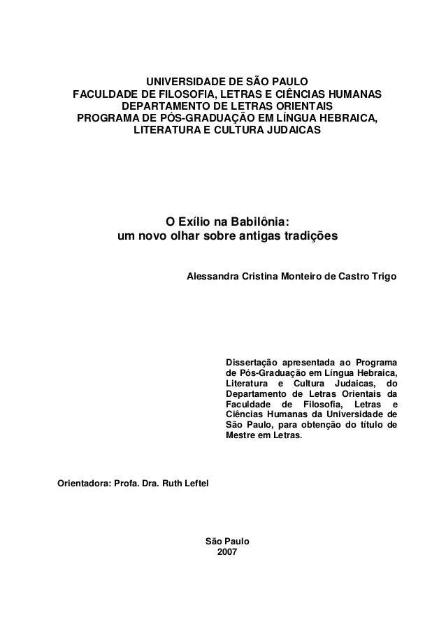 UNIVERSIDADE DE SÃO PAULO FACULDADE DE FILOSOFIA, LETRAS E CIÊNCIAS HUMANAS DEPARTAMENTO DE LETRAS ORIENTAIS PROGRAMA DE P...