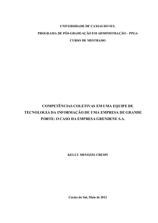 UNIVERSIDADE DE CAXIAS DO SUL     PROGRAMA DE PÓS-GRADUAÇÃO EM ADMINISTRAÇÃO – PPGA                    CURSO DE MESTRADO  ...