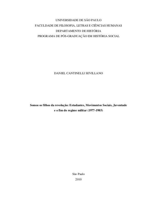 Dissertação de daniel cantinelli sevillano usp 2010