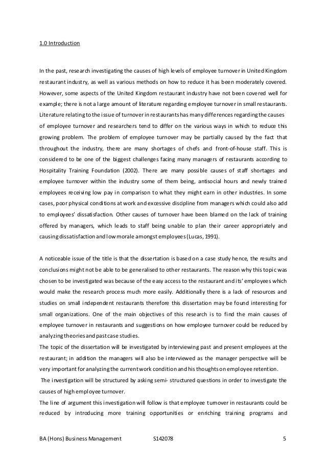 Dissertation on turnover