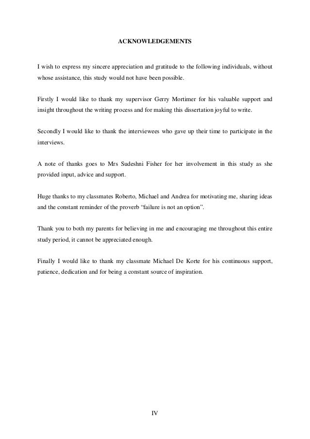 Dissertation marking sheet