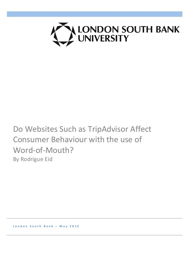 Do	  Websites	  Such	  as	  TripAdvisor	  Affect	 ...