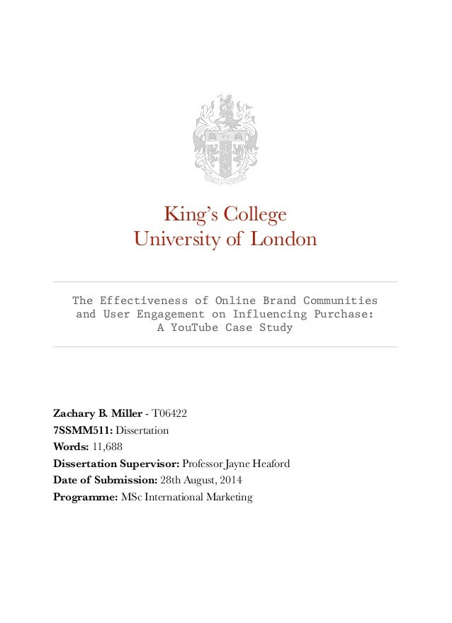 Kings college london phd proposal