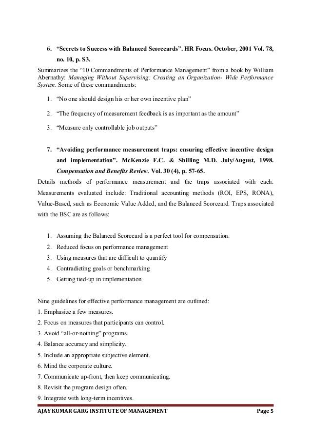 Performance Management Dissertation | What Is Performance Management
