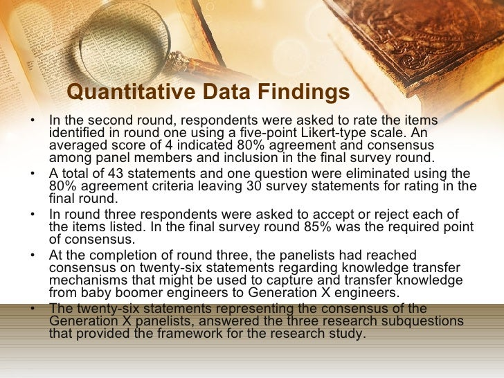 dissertation quantitative research methodology The main purpose of chapter 3 of your dissertation, which is methodology, is to give enough information to an experienced investigator to be able to replicate the study.