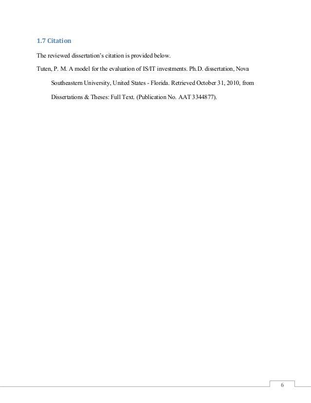 Do Program Evaluation Dissertation