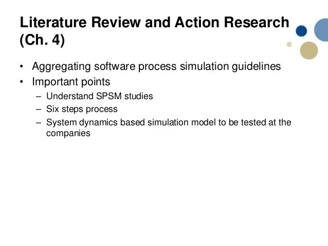 literature review on software development processes Method - a systematic literature review was performed to identify, assess and   derstanding the software development process by mccall et al.