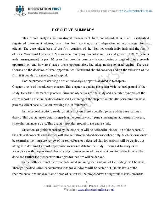 Dissertation analysis example