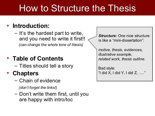How to structure dissertation