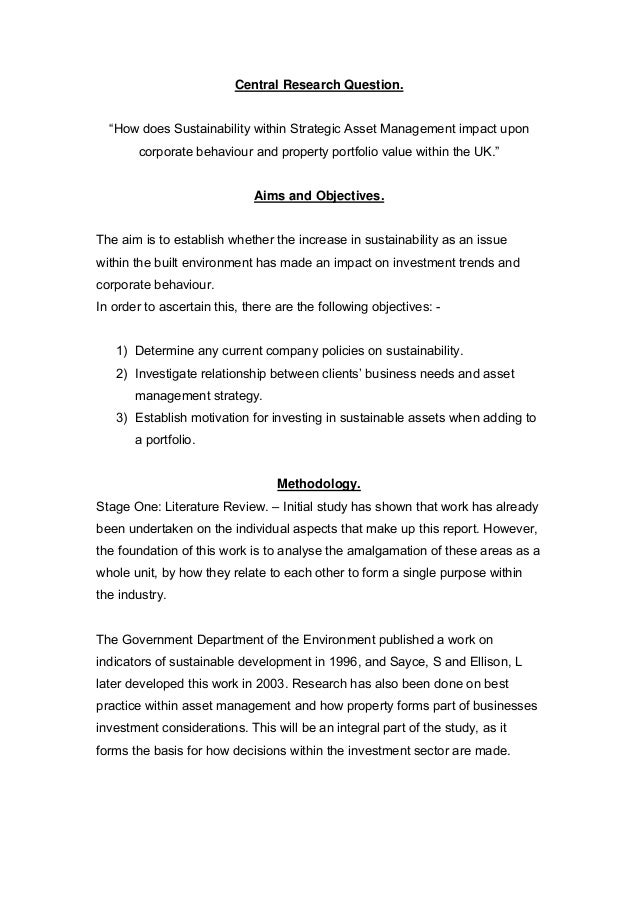 Dissertation objections for appraisals