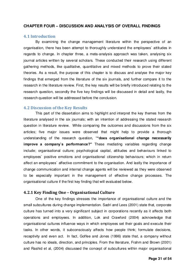 managing change dissertation Understanding change and change management processes: a case study by carlo d'ortenzio thesis submitted in fulfillment of requirements for the degree of.
