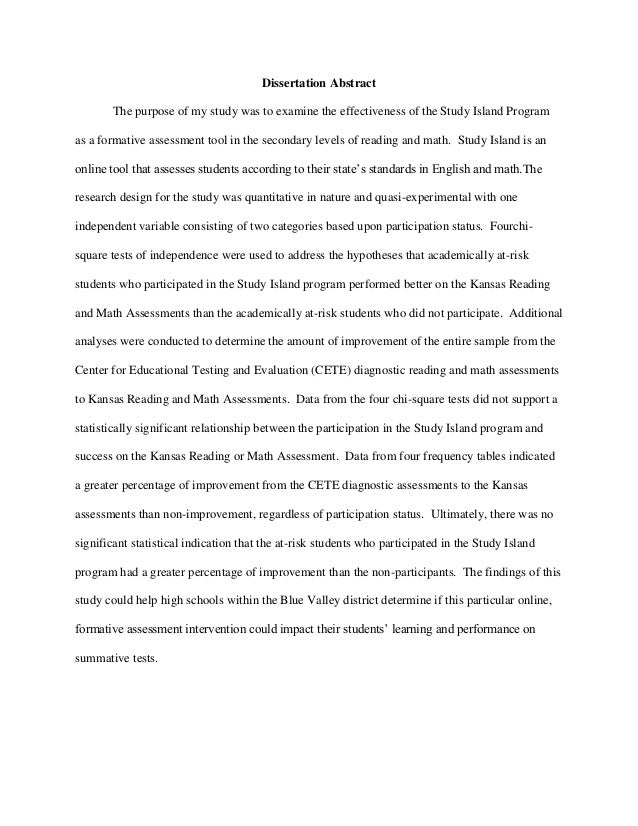 Dissertation abstract