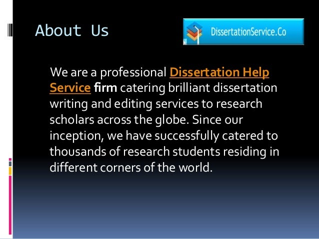 Dissertation Proposal Service Abstract