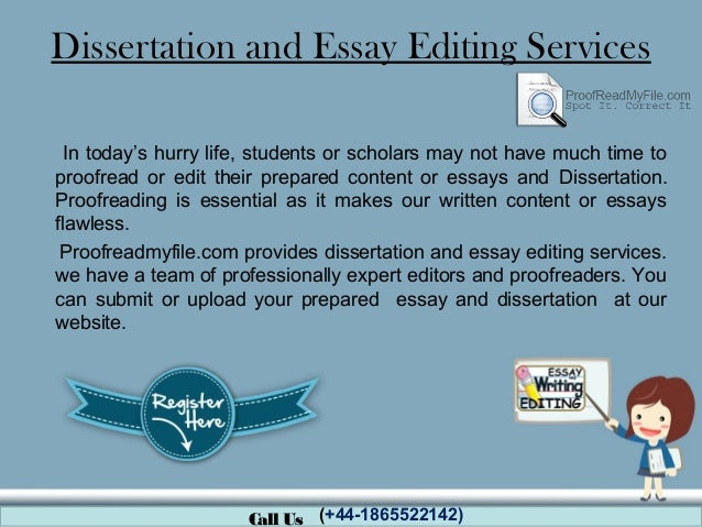Dissertation and Thesis Proofreading & Editing Services