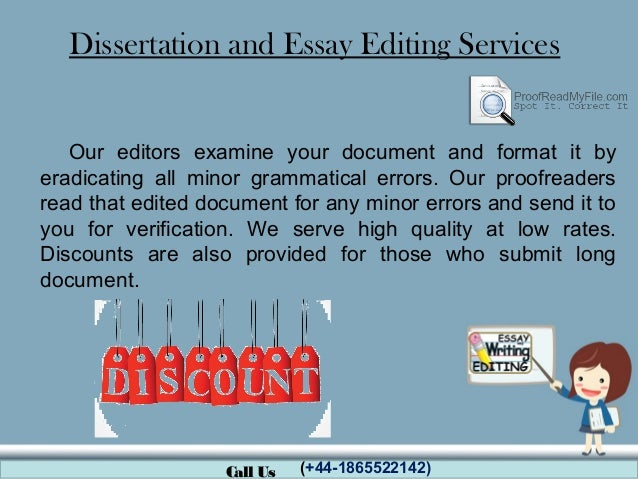 Dissertation Editing Rates