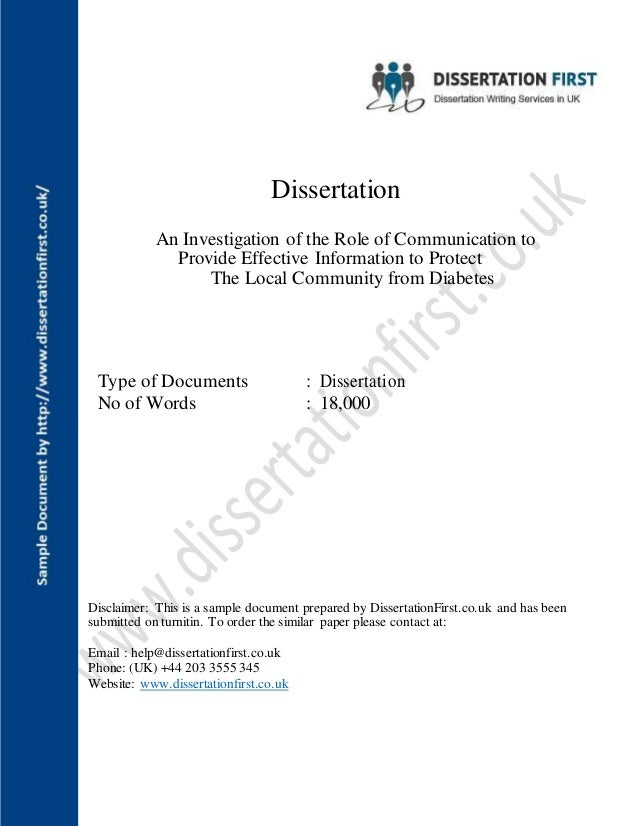 Dissertation On Good Quality Communication In Healthcare