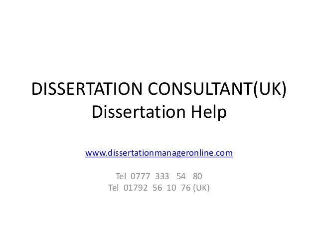 Dissertation consultant(uk)