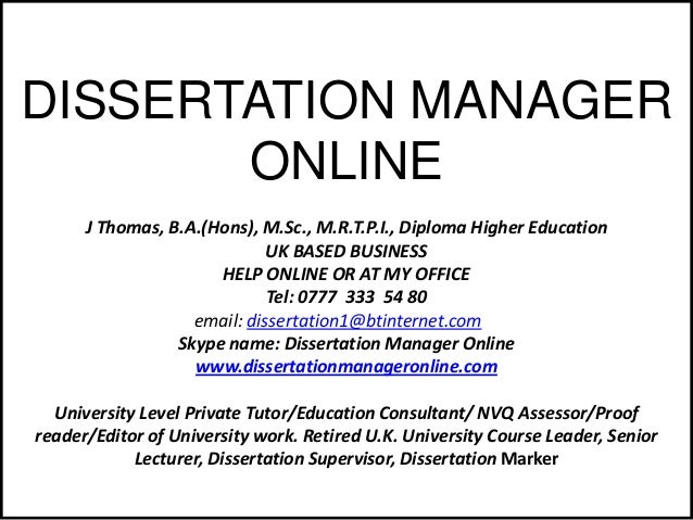 PhD THESIS AND RESEARCH ASSISTANCE