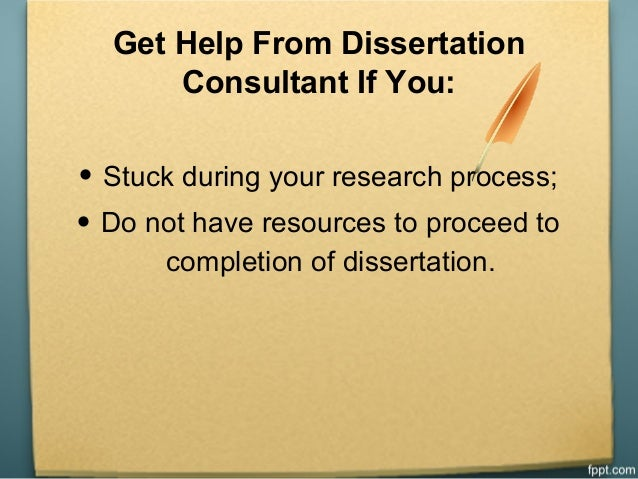Dissertation consulting service