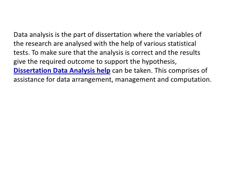 statistical analysis services thesis I specialize in helping graduate students and researchers in psychology, education, economics and the social sciences with all aspects of statistical analysis.