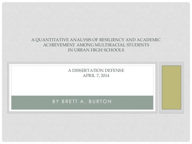A QUANTITATIVE ANALYSIS OF RESILIENCY AND ACADEMIC ACHIEVEMENT AMONG MULTIRACIAL STUDENTS IN URBAN HIGH SCHOOLS