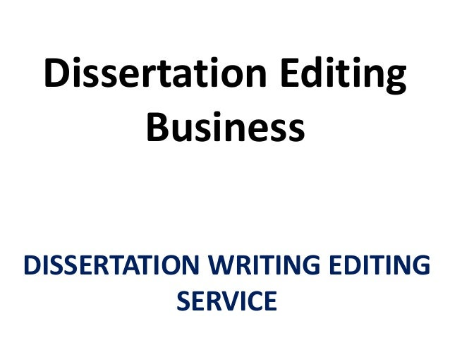 Dissertation editing sponsered