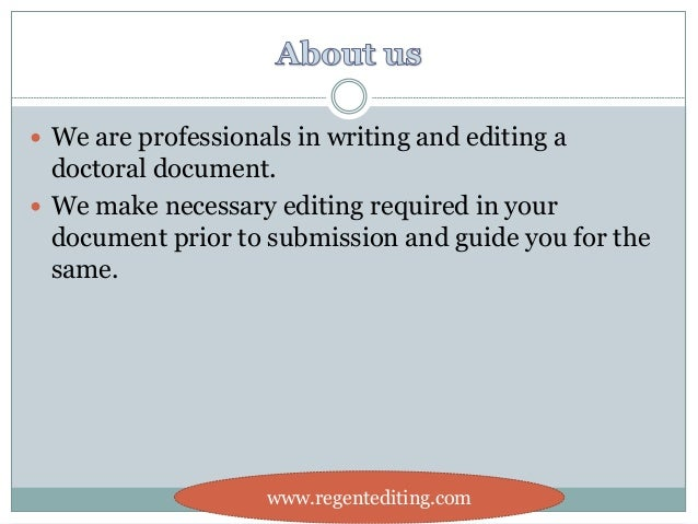Apa dissertation editor