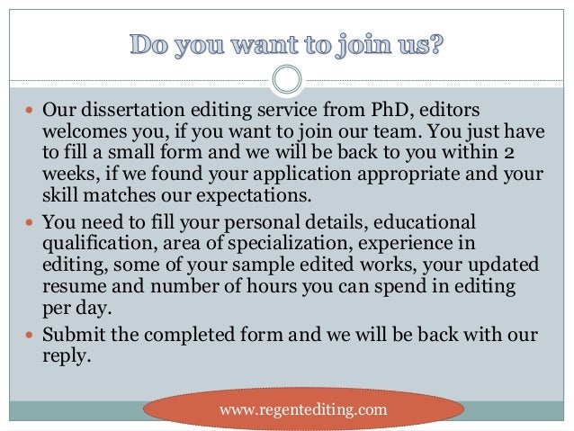 Outline of our thesis editing service