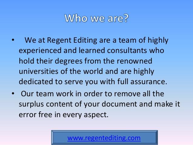 Regent Editing: Dissertation Editing Service by PhD Editors