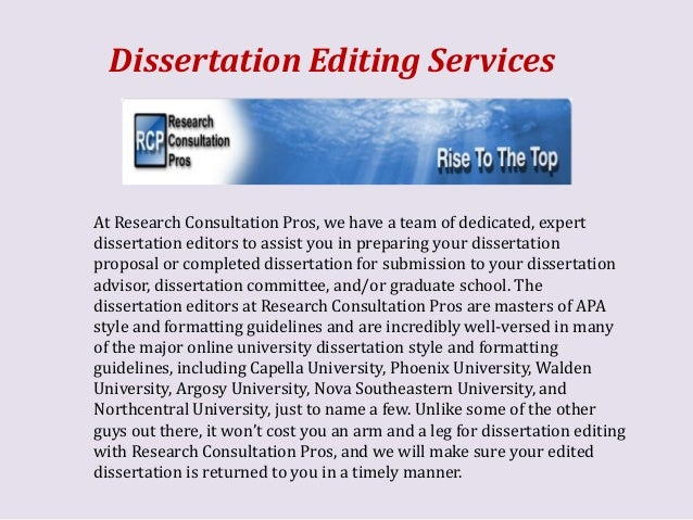 dissertation statistical services editor