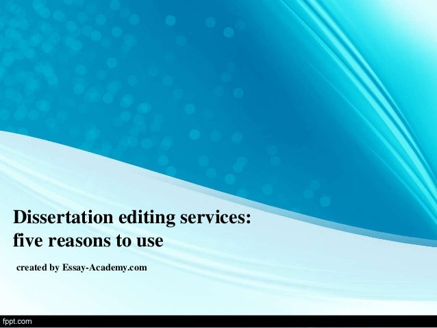Dissertation editing services online