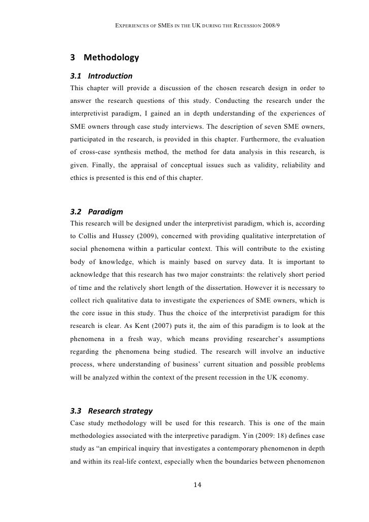 dissertation methodology pdf