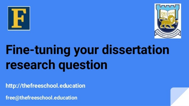 Research question dissertation
