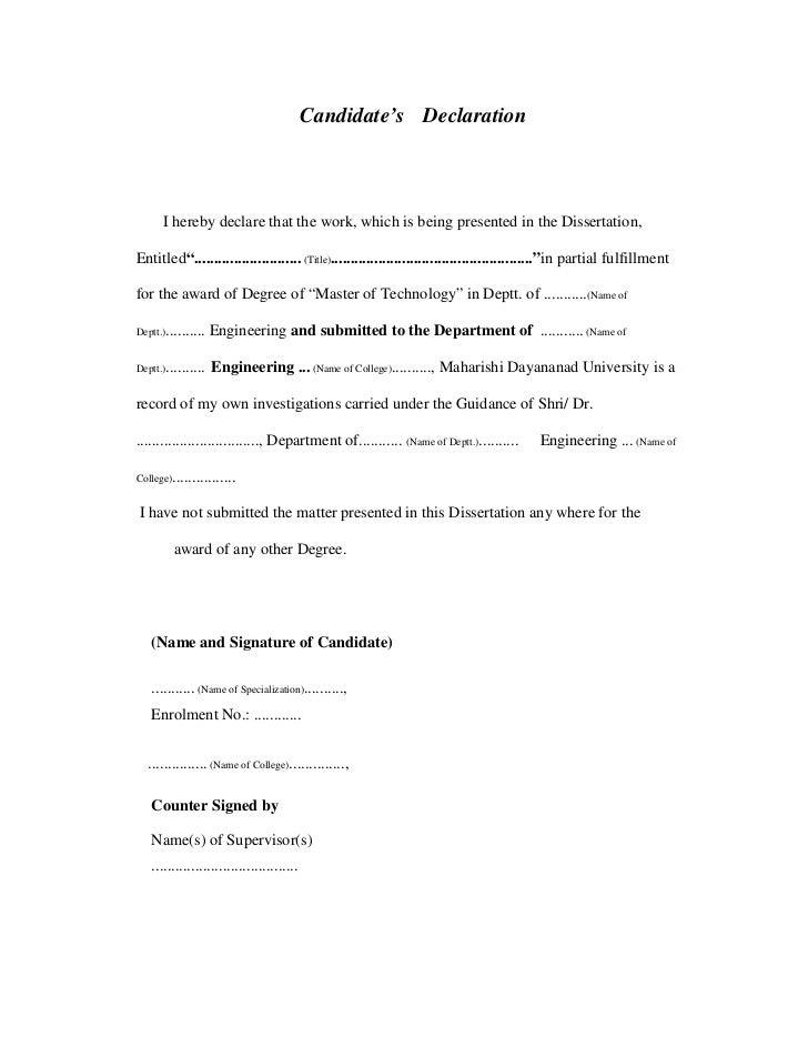 Dissertation guidelines