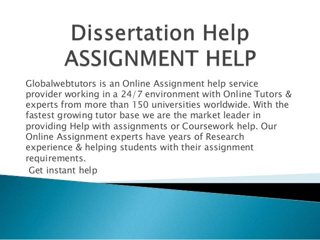 Dissertation assignment services jobs