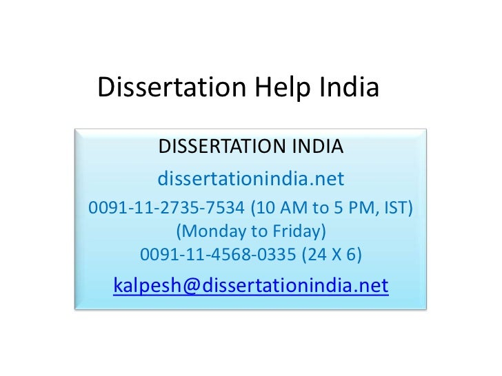 PhD thesis writing help and assistance - Thesis Writing India