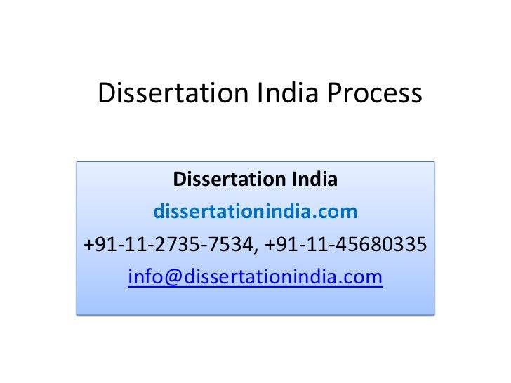 Doctorial dissertation process